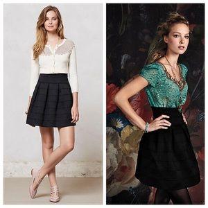 Anthropologie Girls From Savoy Ponte Bell Skirt XS